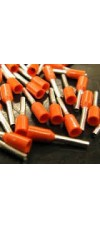 BOOTLACE FERRULE 0.5MM ORANGE