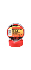 SCOTCH 35 ELECT.TAPE RED 19MM X 20M
